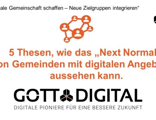 """Workshopergebnisse  """"Digitale Gemeinschaft schaffen – Neue Zielgruppen integrieren"""" der Next Normal Konferenz"""